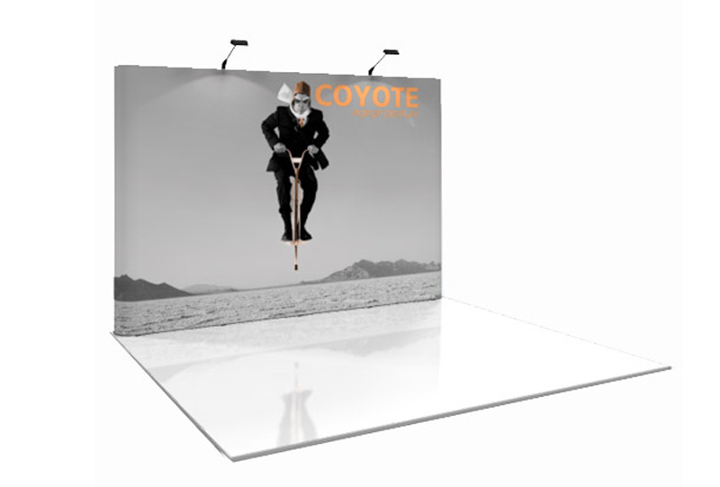 Southeast Exhibits 4x3-Coyote Portable Displays