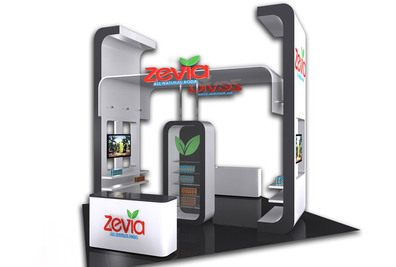 Southeast Exhibits Zevia Custom Exhibits