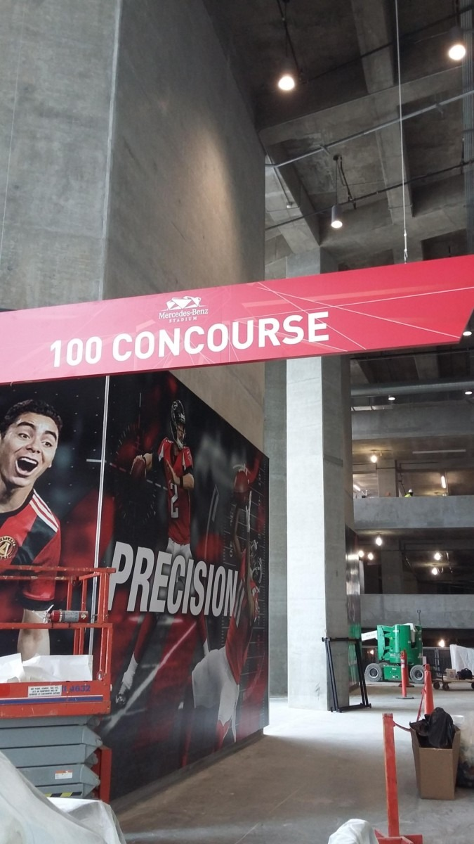 Southeast Exhibits MBS-graphics-signage Mercedes-Benz Stadium